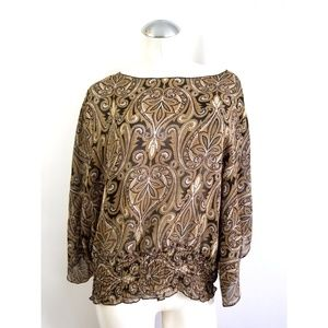 Michael Kors Size M 100% Silk Blouse Shirt